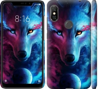 Чехол на Xiaomi Redmi Note 6 Pro Арт-волк