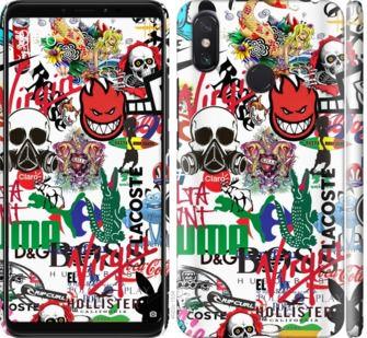 Чехол на Xiaomi Mi Max 3 Many different logos