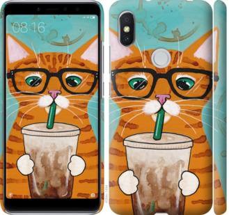 Чехол на Xiaomi Redmi S2 Зеленоглазый кот в очках