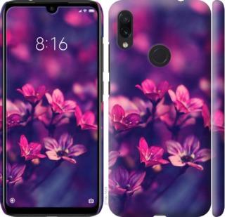 Чехол на Xiaomi Redmi Note 7 Пурпурные цветы