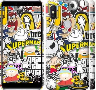 Чехол на Xiaomi Redmi S2 Popular logos