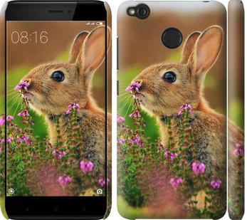 Чехол на Xiaomi Redmi 4X Кролик и цветы