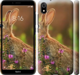 Чехол на Xiaomi Redmi 7A Кролик и цветы