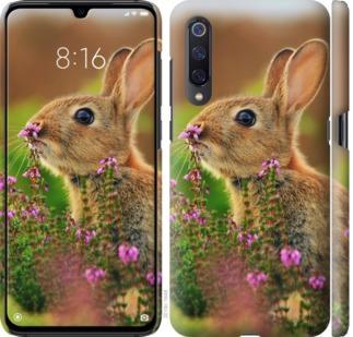 Чехол на Xiaomi Mi A3 Кролик и цветы