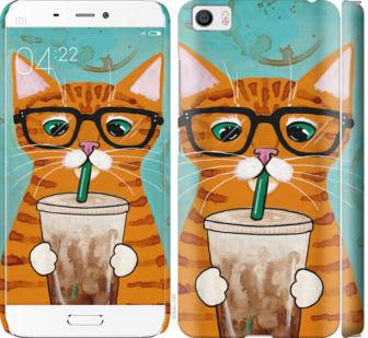 Чехол на Xiaomi Mi5 Зеленоглазый кот в очках