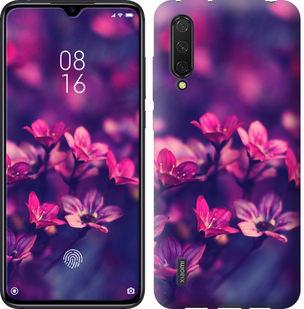 Чехол на Xiaomi Mi CC9 Пурпурные цветы