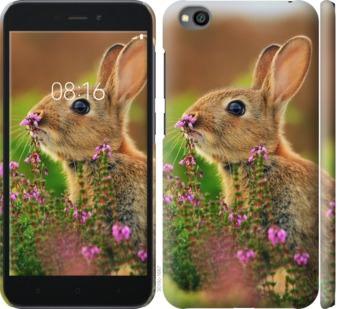 Чехол на Xiaomi Redmi Go Кролик и цветы