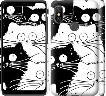 Чехол на Xiaomi Redmi Note 6 Pro Коты v2
