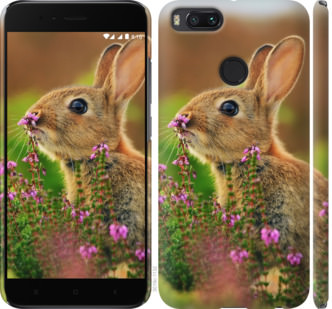 Чехол на Xiaomi Mi A1 Кролик и цветы