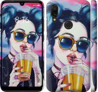 Чехол на Xiaomi Redmi 7 Арт-девушка в очках