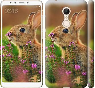 Чехол на Xiaomi Redmi 5 Кролик и цветы