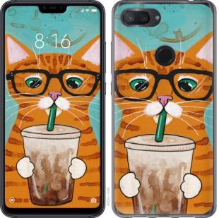 Чехол на Xiaomi Mi 8 Lite Зеленоглазый кот в очках