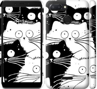 Чехол на Xiaomi Redmi 6 Коты v2