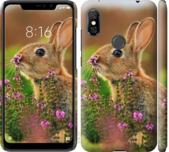 Чехол на Xiaomi Redmi Note 6 Pro Кролик и цветы