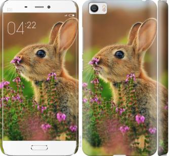 Чехол на Xiaomi Mi5 Кролик и цветы