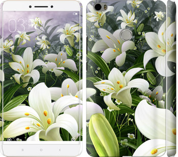 Чехол на Xiaomi Mi Max Белые лилии