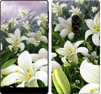 Чехол на Xiaomi Mi MiX 2 Белые лилии