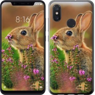 Чехол на Xiaomi Mi8 Кролик и цветы