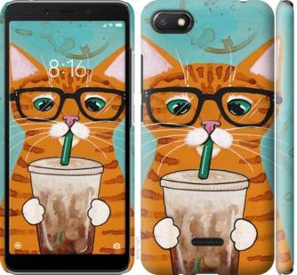 Чехол на Xiaomi Redmi 6A Зеленоглазый кот в очках
