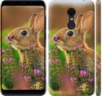 Чехол на Xiaomi Redmi 5 Plus Кролик и цветы