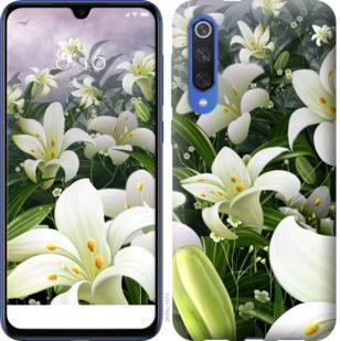 Чехол на Xiaomi Mi 9 SE Белые лилии