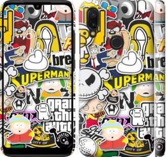 Чехол на Xiaomi Redmi 7 Popular logos