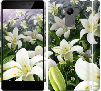 Чехол на Xiaomi Redmi 4 pro Белые лилии