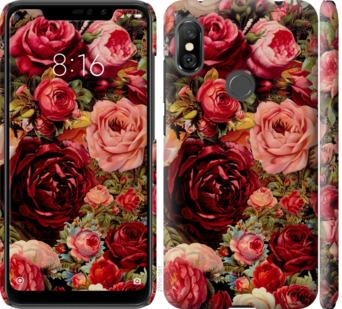 Чехол на Xiaomi Redmi Note 6 Pro Цветущие розы