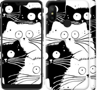 Чехол на Xiaomi Redmi 6 Pro Коты v2