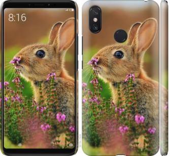 Чехол на Xiaomi Mi Max 3 Кролик и цветы