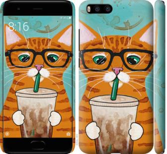 Чехол на Xiaomi Mi6 Зеленоглазый кот в очках