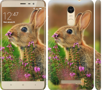 Чехол на Xiaomi Redmi Note 3 Кролик и цветы