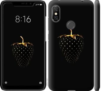 Чехол на Xiaomi Redmi Note 6 Pro Черная клубника
