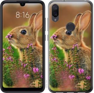 Чехол на Xiaomi Mi Play Кролик и цветы