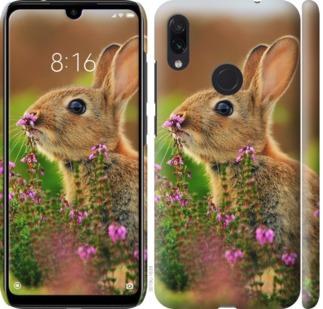 Чехол на Xiaomi Redmi Note 7 Кролик и цветы