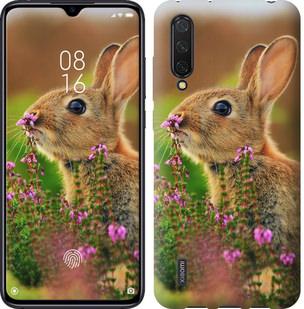 Чехол на Xiaomi Mi CC9 Кролик и цветы