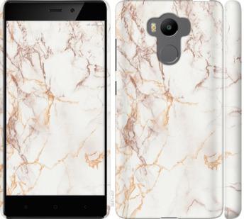 Чехол на Xiaomi Redmi 4 pro Белый мрамор