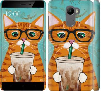 Чехол на Xiaomi Redmi 4 Зеленоглазый кот в очках