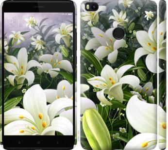 Чехол на Xiaomi Mi Max 2 Белые лилии