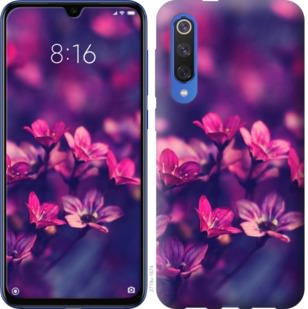 Чехол на Xiaomi Mi 9 SE Пурпурные цветы