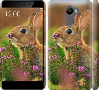 Чехол на Xiaomi Redmi 4 Кролик и цветы