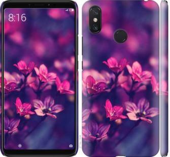 Чехол на Xiaomi Mi Max 3 Пурпурные цветы