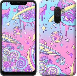 Чехол на Xiaomi Pocophone F1 Розовая галактика