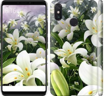 Чехол на Xiaomi Mi Max 3 Белые лилии
