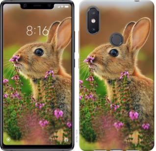 Чехол на Xiaomi Mi8 SE Кролик и цветы