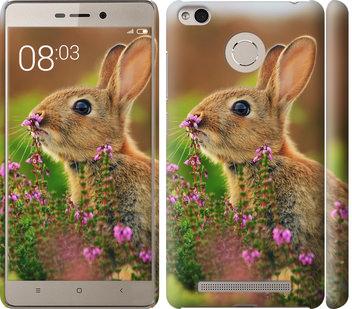 Чехол на Xiaomi Redmi 3 Pro Кролик и цветы