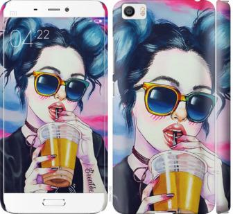 Чехол на Xiaomi Mi5 Арт-девушка в очках