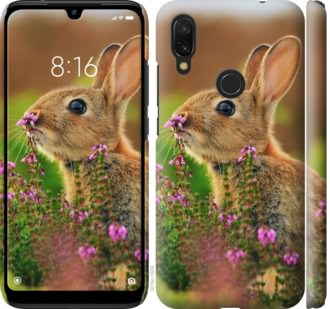 Чехол на Xiaomi Redmi 7 Кролик и цветы