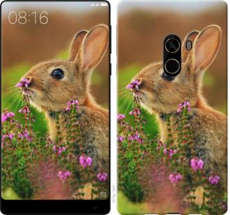 Чехол на Xiaomi Mi MiX 2 Кролик и цветы