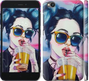 Чехол на Xiaomi Redmi Go Арт-девушка в очках